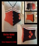 Harley Quinn Corset by JustBetsyCostumes
