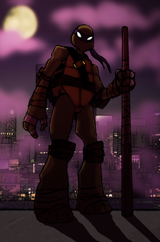 Donatello rooftop by ssjfabian