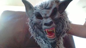 My werewolf mask! by Dracorider19