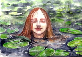 Girl in a lake by jane-beata