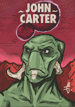 John Carter , sketch 2013. by bastienblanc