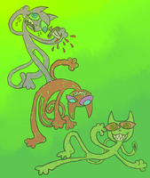 cats by robotboxers