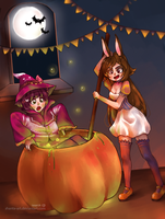 CE: Berry and Jade HAPPY HALLOWEEN by SHANTA-art