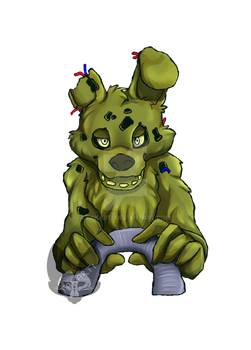 Five Night's at Freddy's: Springtrap by Takarti