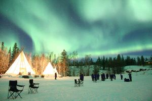 Northern Lights and Teepees 10 by LivingDeadSuperstar