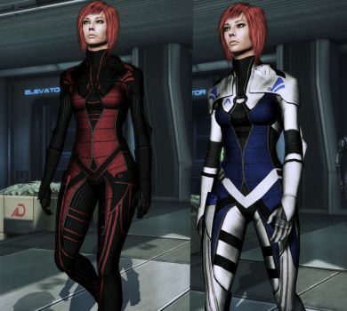 ME3 Hoodless Kasumi Outfit by nameislooney