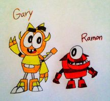 AT: Mixels - Gary and Ramon by PogorikiFan10