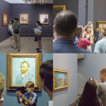 Modern gallery attendees - The Selfie Generation by sequential