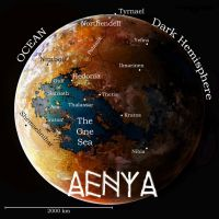 The World of Aenya Map by C. Emmons* by AGEOFAENYA