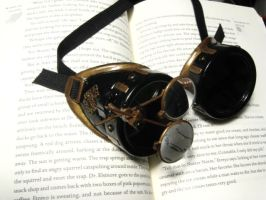 Steampunk Goggles by thistle-and-weeds