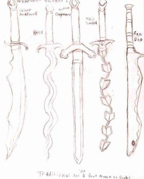 Sword Set, Traditional 1 by Adris