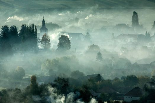 Magical morning in Transylvania by pinyty