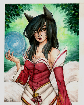 Ahri the Nine Tailed Fox-League of Legends by MESS-Anime-Artist