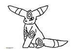 Umbreon Lineart by amywolf45