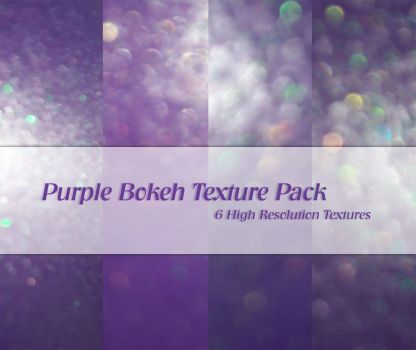 Purple Bokeh Texture Pack by powerpuffjazz