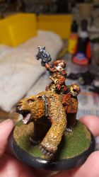 Dwarf Bear Cavalry Captain by RBL-M1A2Tanker