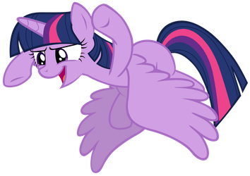 Twilight Sparkle pretends to be a bear by Tardifice