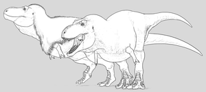 A Brief Discussion on Tyrannosaur Integument by Sketchy-raptor