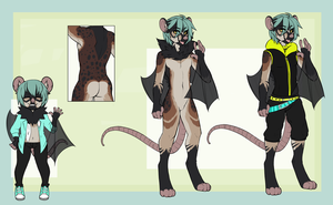 Opossum Bat Adopt -Auction- closed by SixofCrows