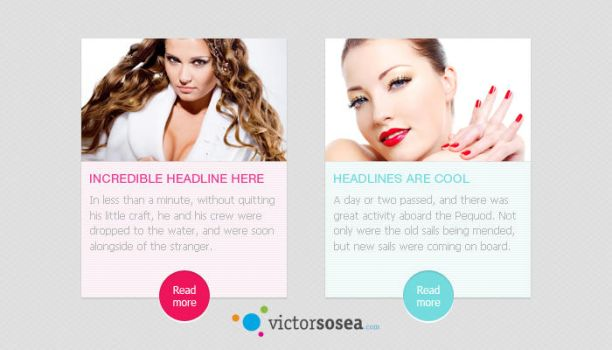 Featured Posts Free PSD by victorsosea