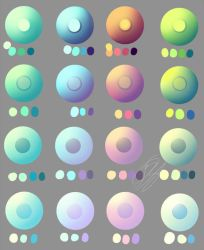 Pastel and non pastel eye swatches. by Overlord-Jinral