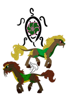 Kirin Clans: Turtle, Clan of Earth by ZenAquariaPony