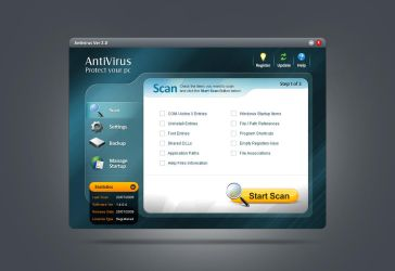 Antivirus GUI by Nas-wd