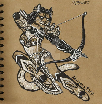 Inktober Day 1 Swift by Adalgeuse