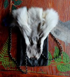 Fur and Leather Pouches by lupagreenwolf