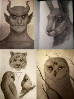 Sketchbook Pages by TobyFoxArt