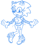 Sonic's new outfit (doodle) by girltails