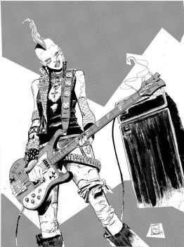 Punk Bass Storm by Stephen-Green