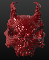 Demon Skull by BlackHawk45LC
