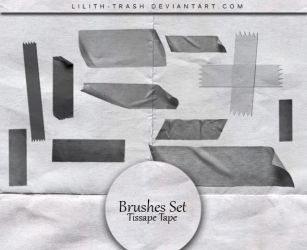Tissape Tape Brushes #28 by LilithDemoness