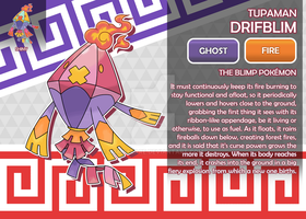 Tupaman Drifblim, the Blimp Fakemon by AtmaFlare