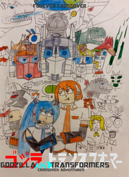 Godzilla and Transformers Forever Crossover by NestieBot