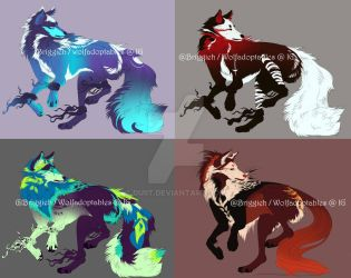 OPEN! (2/4) Wolf Adopts by Duiit