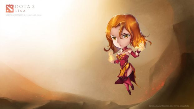 Lina, the Slayer - Chibi DotA 2 by VirtualMan209