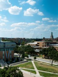 University of North Texas campus bird's eye view by crystaljhollis