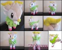 Shiny Skiddo plush toy by Miss-Zeldette