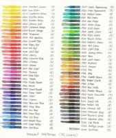 Color Chart Inktense by JanKov