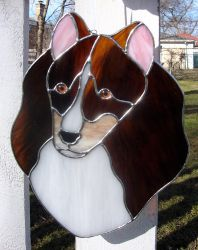Stained Glass Sheltie by bigblued