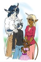 Unicorn family by merrypaws