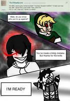 Ask 14 ~ Creepypasta trio time by KikiFun