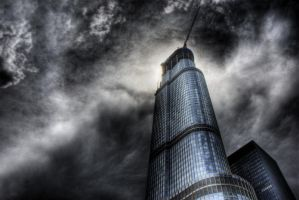 Chicago Trump Tower Clouds by spudart