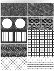 Rust Metal Grid Stone Wall and Dungeon Brushes by AStoKo