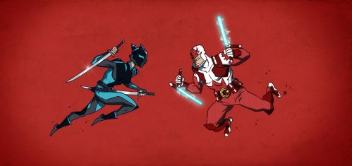 Captain Canuck vs Blue Fox by darrenrawlings