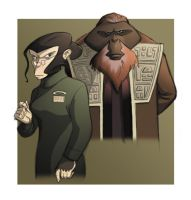 Dr Zaius and Zera by BrianMainolfi