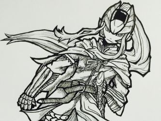 (LINE) Omega Armor x Monster Hunter by Sylphrit