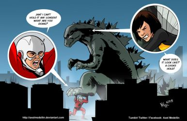 TLIID 399. Ant Man and the Wasp vs Godzilla by AxelMedellin